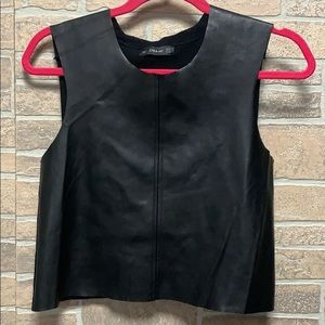 Zara knit crop in size small faux leather/knit
